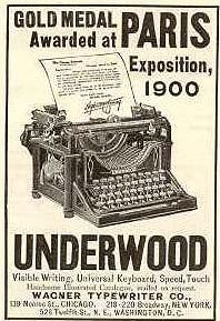 112 years ago...there you have it, the magic of keys and ink and paper. ~Repinned Via POSEY GIRL