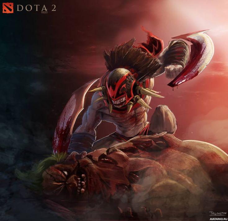 Bloodseeker завалил Пуджа в игре Дота 2 — Скачать картинки ...