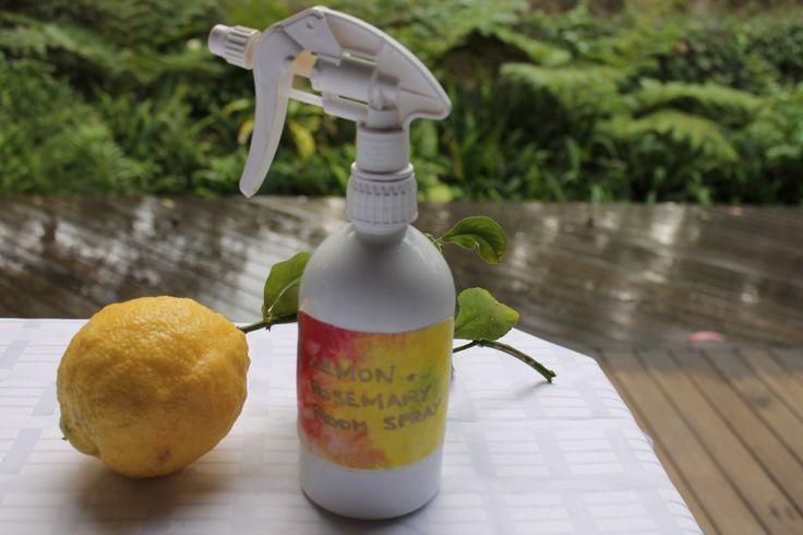Lemon and rosemary room spray - a delight!