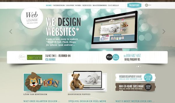 We Design Website  http://www.weblounge.be/