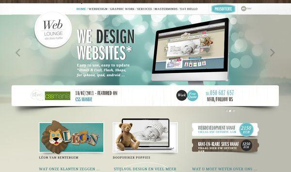 We Design Website  http://www.weblounge.be/