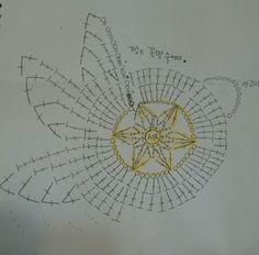 °짱s 꽃별수세미♥ 요 단순한 수세미 도안 그리기가 이렇게나 어려운건지 세삼느끼네요~ ✅사용실: 반...