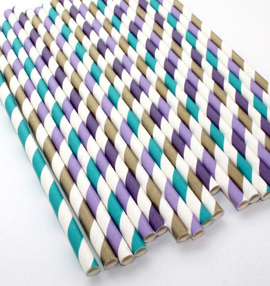 peacock inspired mix paper straws 30 count by 500