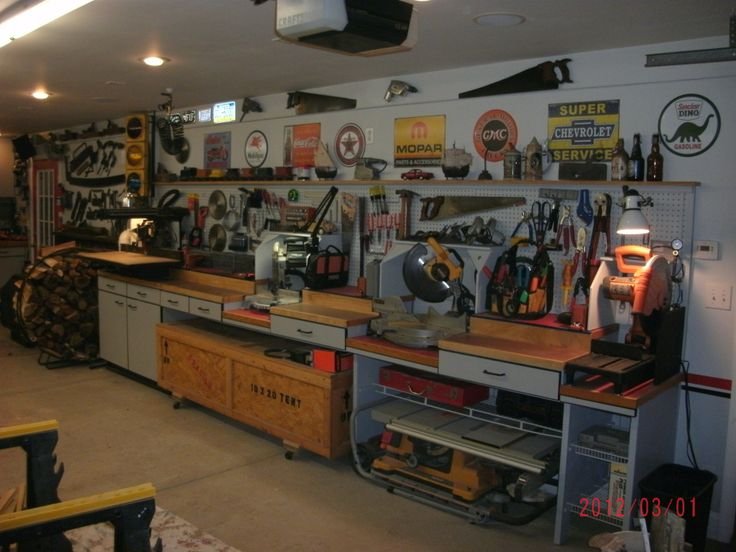 Custom Miter Saw Workbenches Page 2 The Garage Journal Board Workshop Pinterest