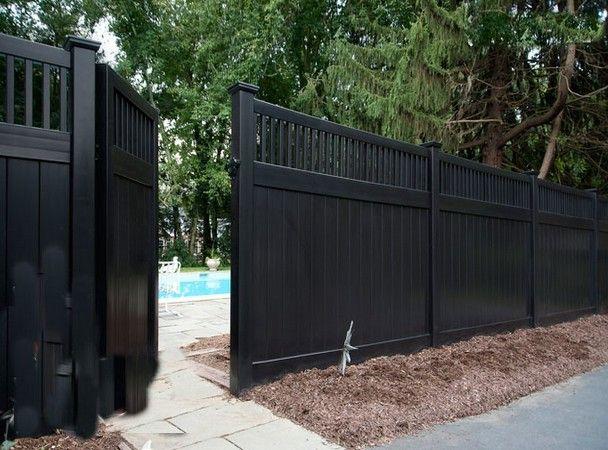 Black vinyl fence post bing images