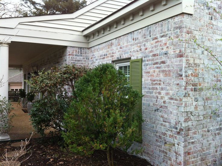 Beautiful Knock Off Brick Lime Wash Painted By Calhoun