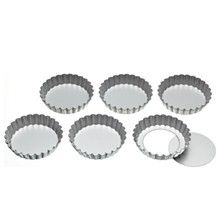Kitchen Craft Tartlettformar med Lös Botten 6-Pack
