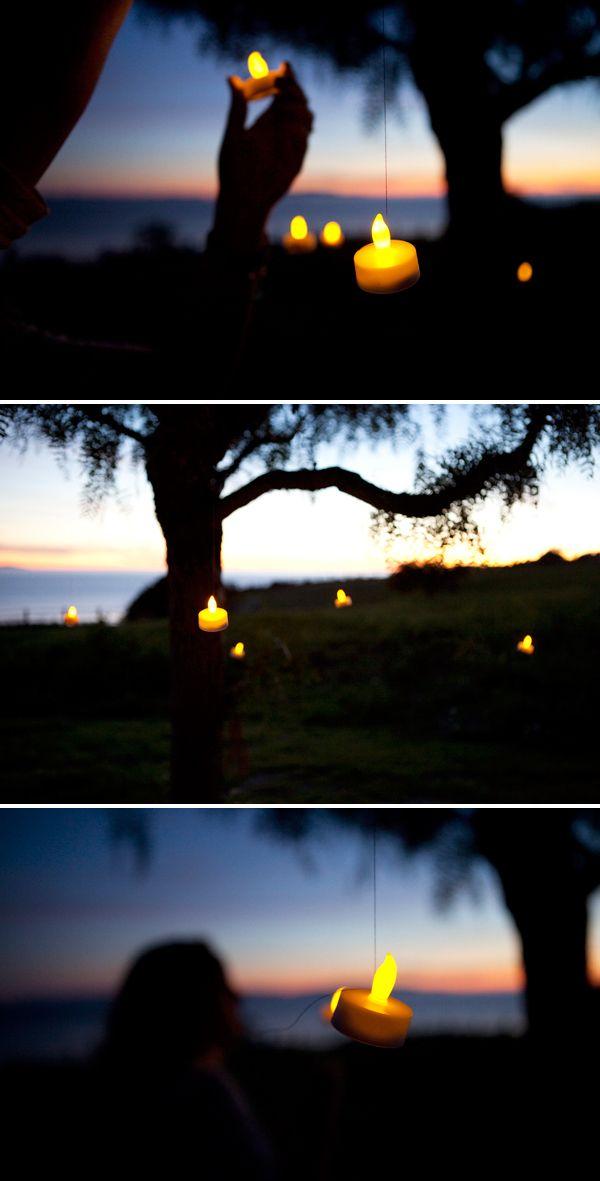 DIY: romantic outdoor lighting