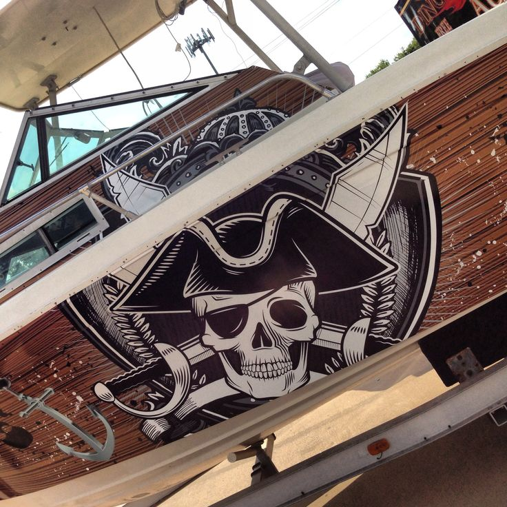 Pirate Ship Boat Wrap For A Corpus Christi Client Boat Wraps And Random Stuff Pinterest
