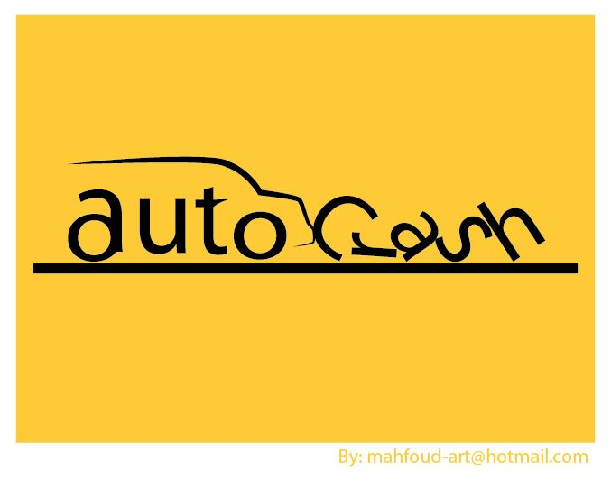 auto word in accident with Crash a logo design for magazines that are related to cars,   logo available for sale 300$  mahfoud-art@hotmail.com