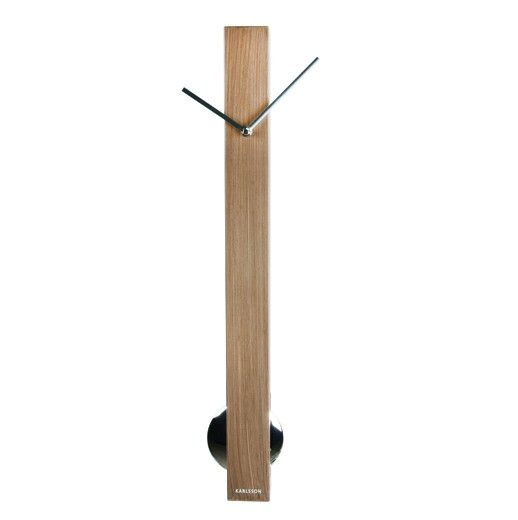 wandklok met pendulum 65 x 6 x 6 cm
