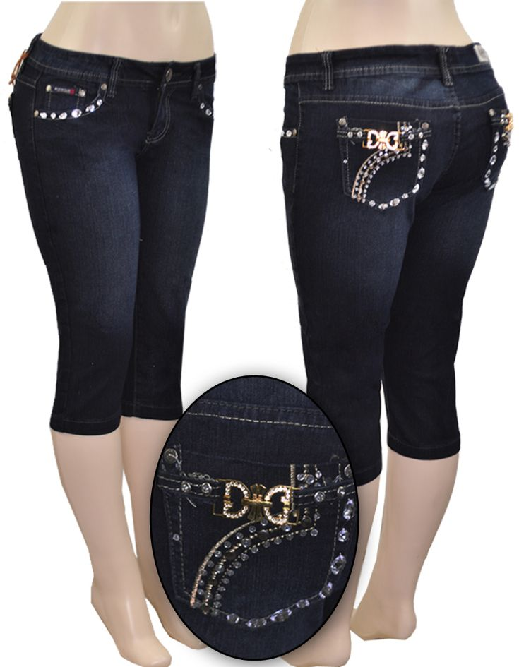 RICHCOW RHINESTONE 3/4 JEANS SIZE: 11MAKE AN OFFER!