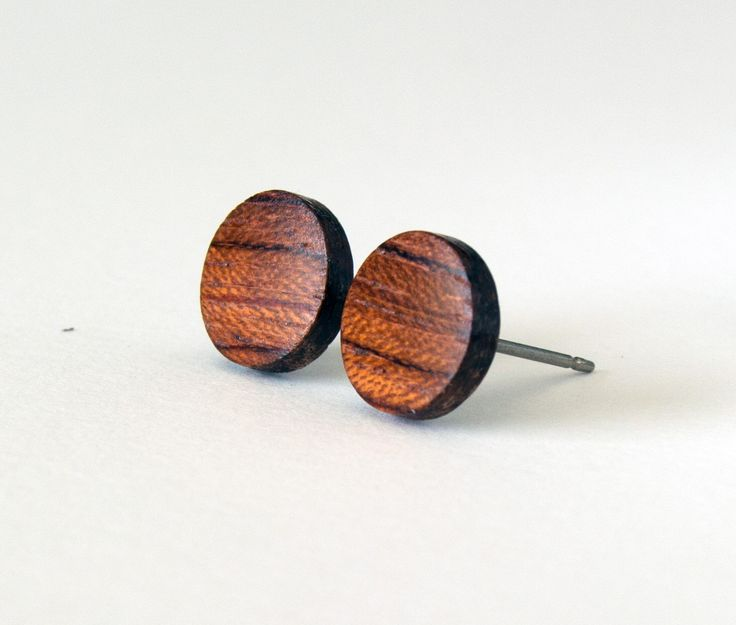 Wood studs, wood earrings, mens stud earrings, wooden stud earrings, bubinga wood studs, wood post earrings, earrings for men, flat studs by HouseofShiba on Etsy https://www.etsy.com/listing/231956744/wood-studs-wood-earrings-mens-stud