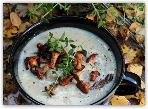 Verdens beste blomkålsuppe med sprøstekt kantarell! (En helseblogg om jakten etter en friskere...)