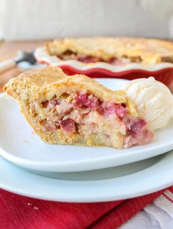 Rhubarb Custard Pie - The Food Charlatan