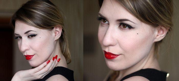 Повторить макияж Диты фон тиз, ретро образ, ретро макияж, красная помада