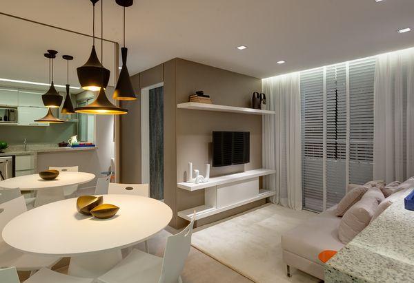 357 melhores imagens sobre salas decoradas no pinterest for Modelos de apartamentos pequenos