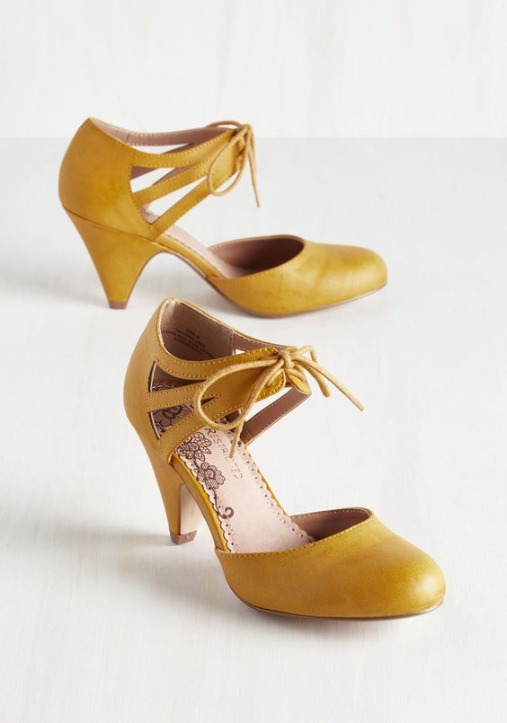 188 best Amazing Yellow Shoes images on Pinterest