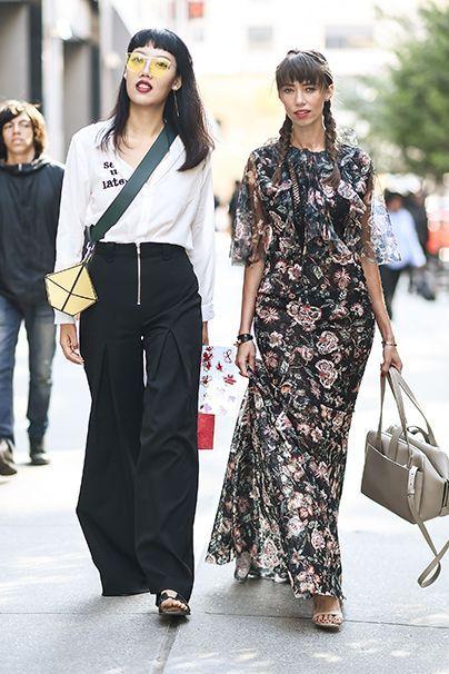 Girl Power. Links minimalistisch-edgy, rechts romantisch und floral. Im Duo sind die Bloggerinnen Michelle Song und Thania Peck unschlagbar.