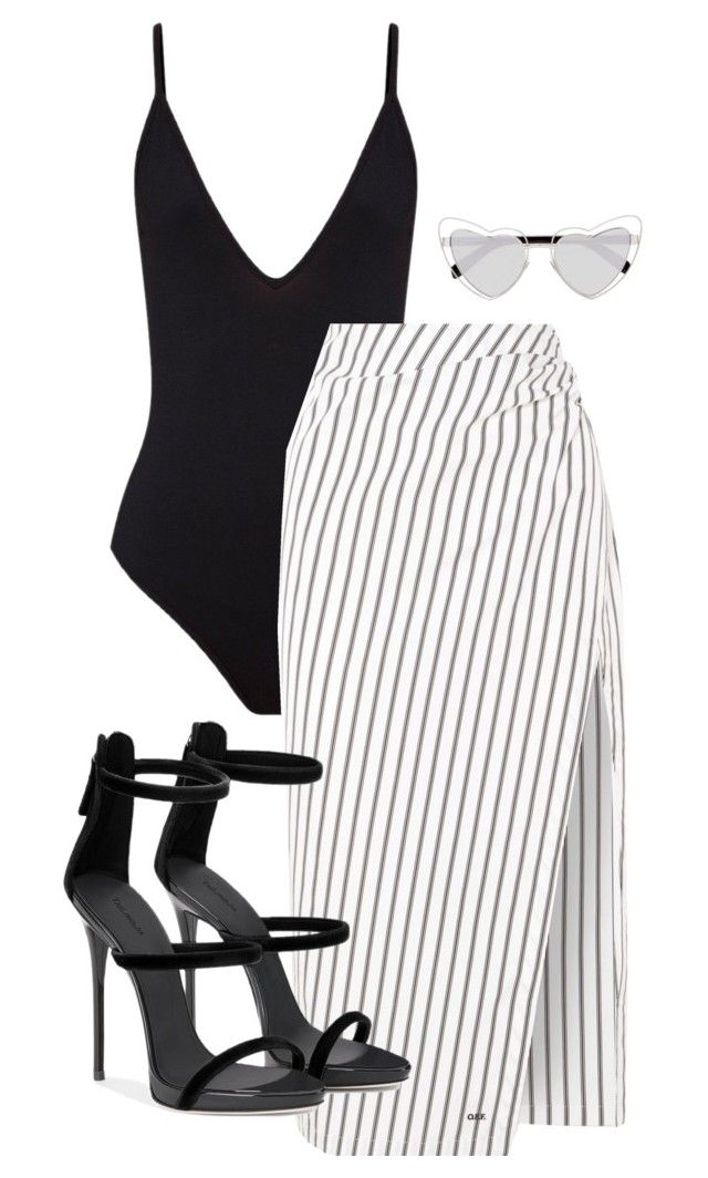 """""""Untitled #124"""" by sofiaosousa ❤ liked on Polyvore featuring Off-White and Yves Saint Laurent"""