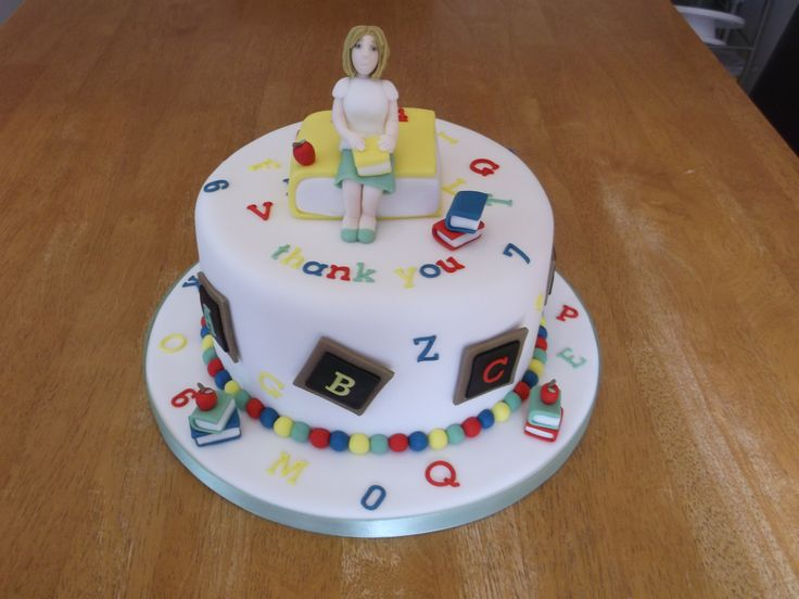 Thank you cake for a teacher x www.facebook.com/fireflycakes