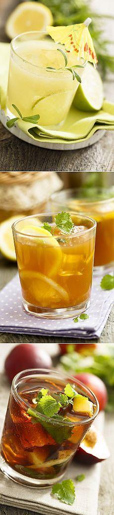 Home is in the kitchen - Наш ответ жаре: ананасовая шипучка и два холодных чая с фруктами.