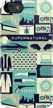 Supernatural iPhone case by Risa Rodil