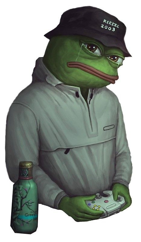 Trill Girl Wallpaper Sad Frog Pepe In Yung Lean Expression Photographic Print
