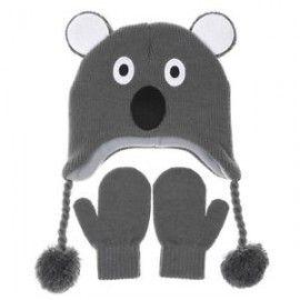 Kool Koala Beanie and Mittens Set