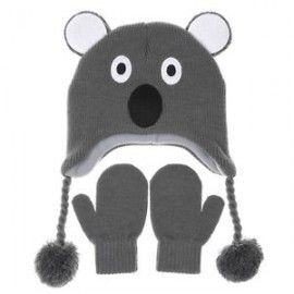 Kool Koala Beanie and Mittens Set