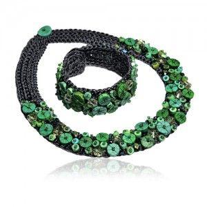 Naszyjnik i bransoletka - biżuteria autorska , robiona ręcznie. - AnKa Biżuteria Srebrna