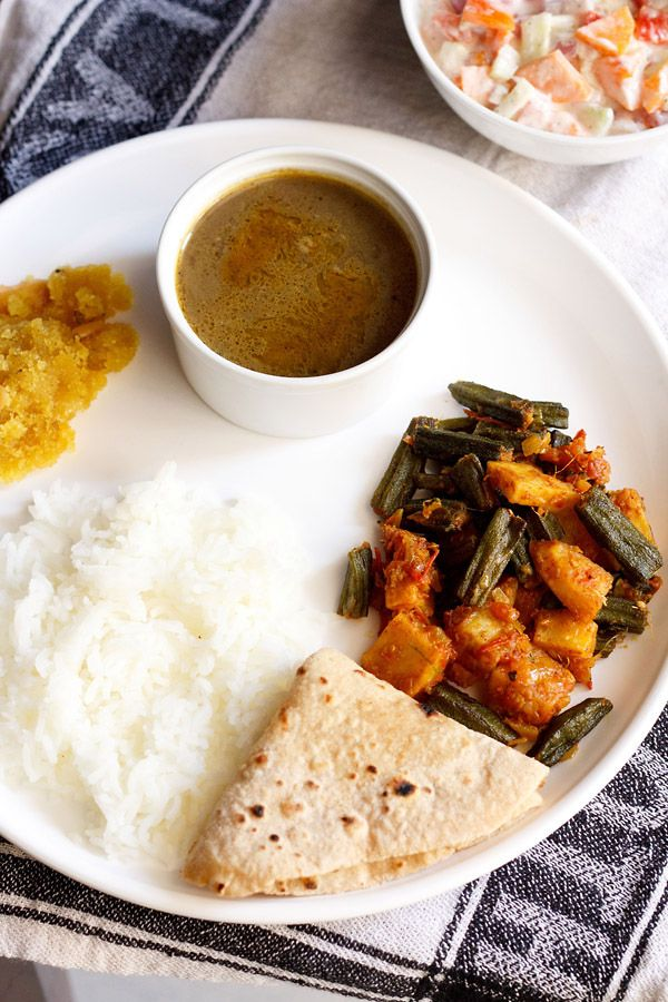 aloo bhindi recipe, punjabi alu bhindi, okra with potatoes
