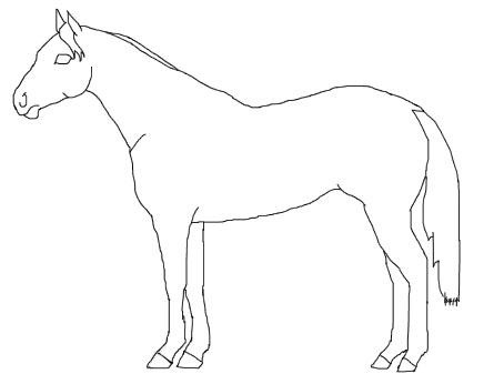 horse...coloring page, or make bigger for pin the tail on the horse game.