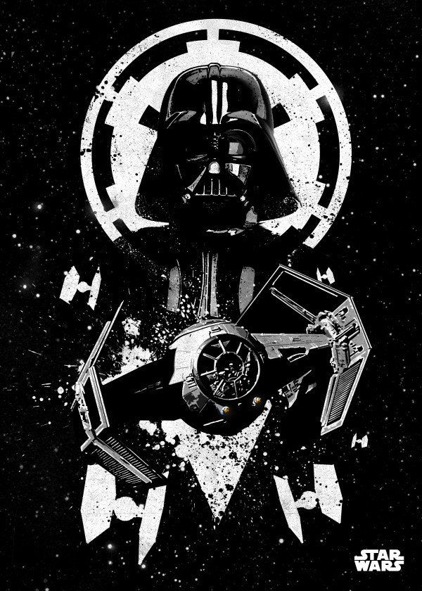 """Official Star Wars Pilots TIE Advanced #Displate artwork by artist """"Star Wars"""". Part of a 15-piece set featuring designs of some of the pilots from the popular #StarWars film franchise. £35 / $46 per poster (Regular size) £71 / $94 per poster (Large size) #ThePhantomMenace #AttackOfTheClones #RevengeOfTheSith #ANewHope #TheEmpireStrikesBack #ReturnOfTheJedi #TheForceAwakens #TheLastJedi #RogueOne #Jedi #DeathStar #LukeSkywalker #HanSolo #Chewbacca #Yoda #C3PO #R2D2 #BobaFett #DarthVader"""