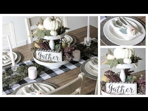 DOLLAR TREE / HOBBY LOBBY FALL TABLESCAPE DIY – Ich schaue Bargain Bethany !! … – TABLESCAPE INSPIRATION