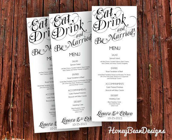25 Best Ideas About Drink Menu On Pinterest: Best 25+ Wedding Dinner Menu Ideas On Pinterest