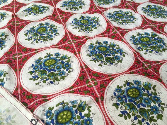 German original vintage fabric Dekoplus by GermanVintageFabric