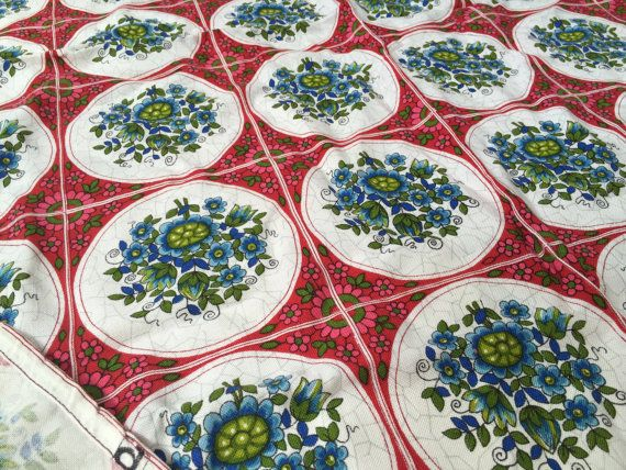 German original vintage fabric Dekoplus by GermanVintageFabric