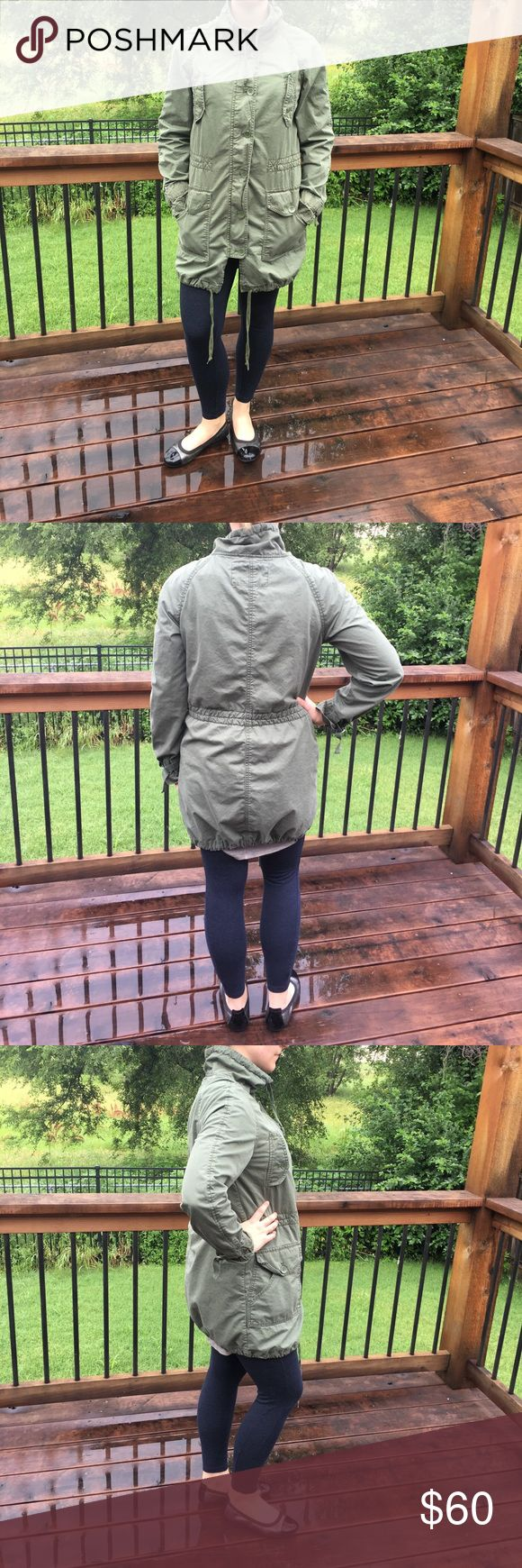 Adorable GAP Green Military Jacket - M Super cute for any occasion and very in style right now! GAP brand, size medium. Gently used with light wear on material. 4jun17aeko GAP Jackets & Coats