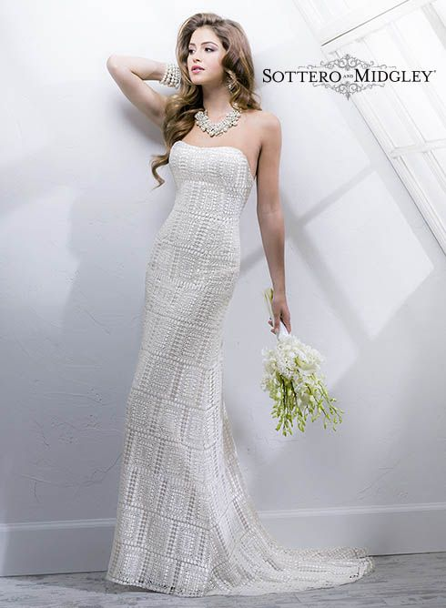 Large View of the Vesna Bridal Gown. Very unique and beautiful