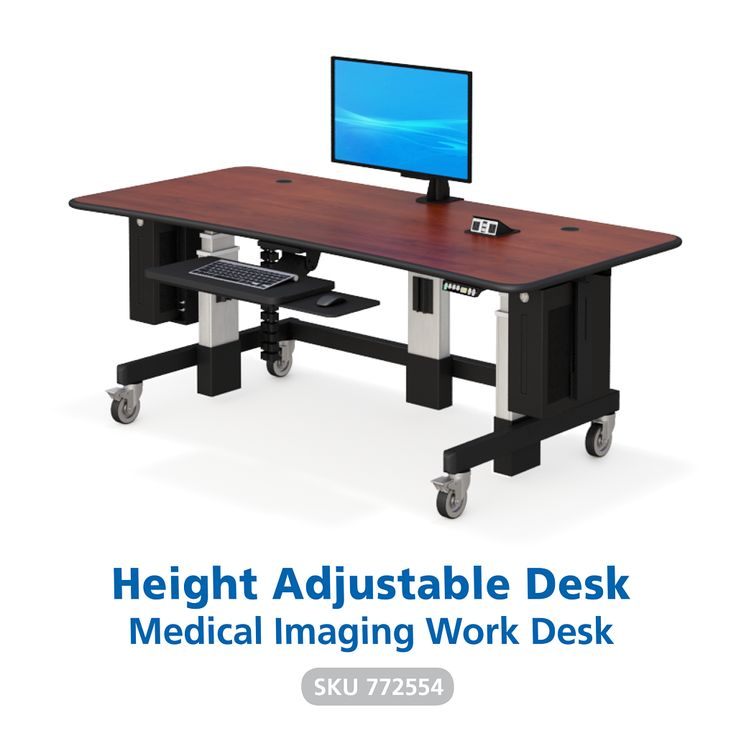 As Radiology and medical sciences evolve, so do our products. Our medical imaging work desk can hold today's top monitor screens such as the Coronis Uniti. Complete double-screen clamps, two under-desk CPU holders and a built-in front keyboard shelf create the best workstation for hospital work environments.