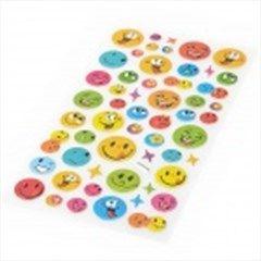 Cartoon PVC Smiling Face Sticker - Multicolored (54 PCS)