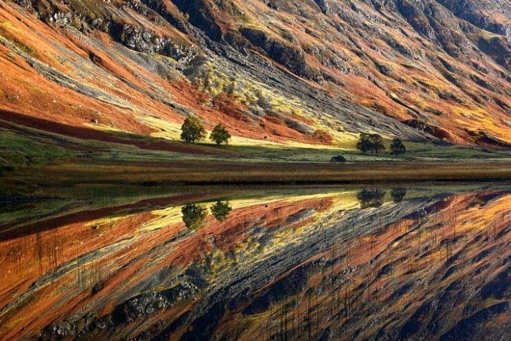 canyon walls and reflection