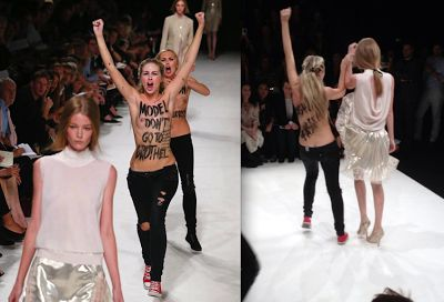 Protesters crash Nina Ricci runway show in Paris Fashion Week   estrellafashionreport-PolicyMic