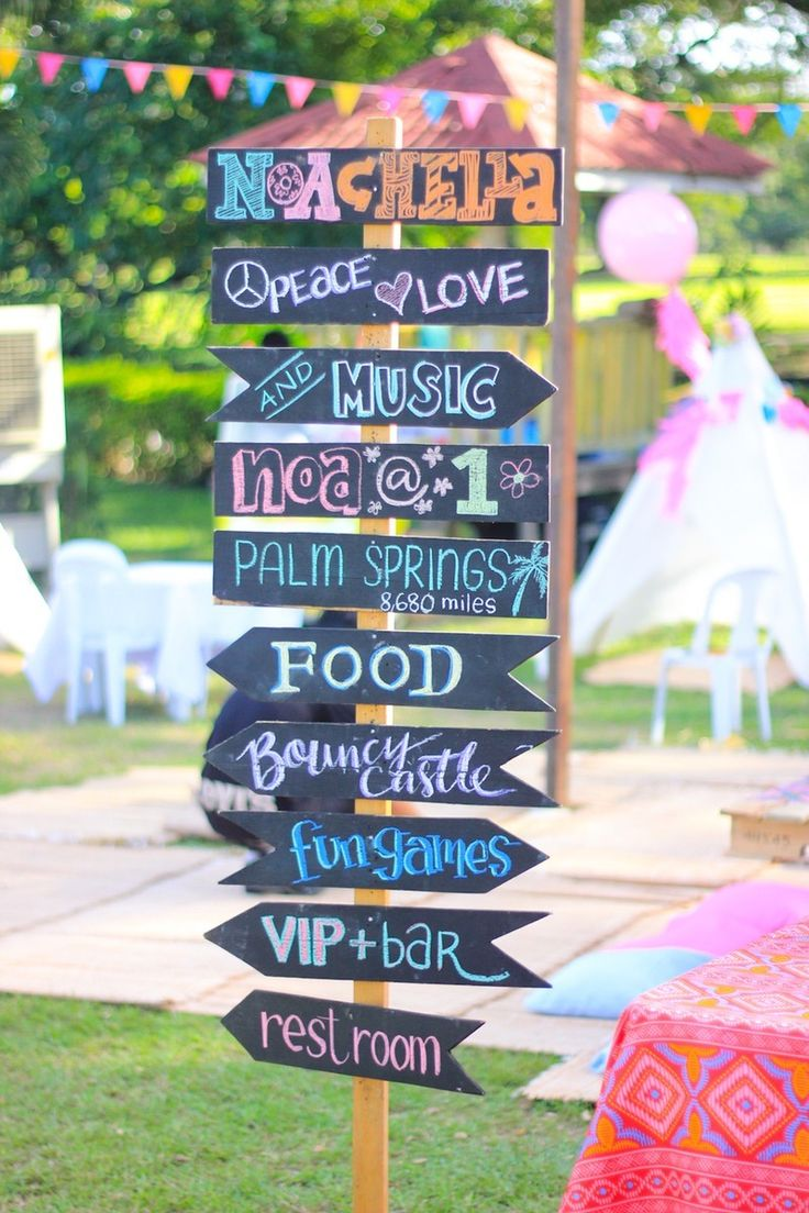 Bring Coachella to your backyard with this fun party sign.