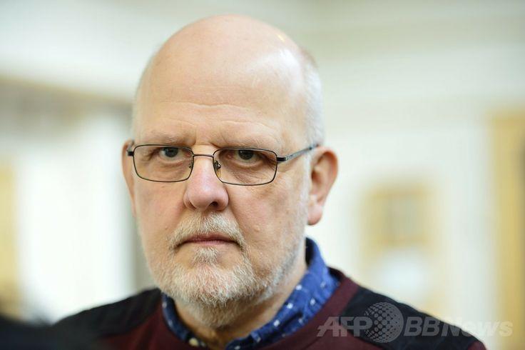 スウェーデン・ファールン(Falun)で、北欧で最も凶悪な殺人犯とされていたストゥーレ・ベルグワール(Sture Bergwall)元受刑者(2013年10月21日撮影)。(c)AFP/TT NEWS AGENCY/HENRIK MONTGOMERY ▼22Mar2014AFP 30人殺害と自白のスウェーデン「連続殺人犯」、一転無罪で釈放 http://www.afpbb.com/articles/-/3010754 #Sweden #Sverige #Suecia #Falun #Sture_Bergwall