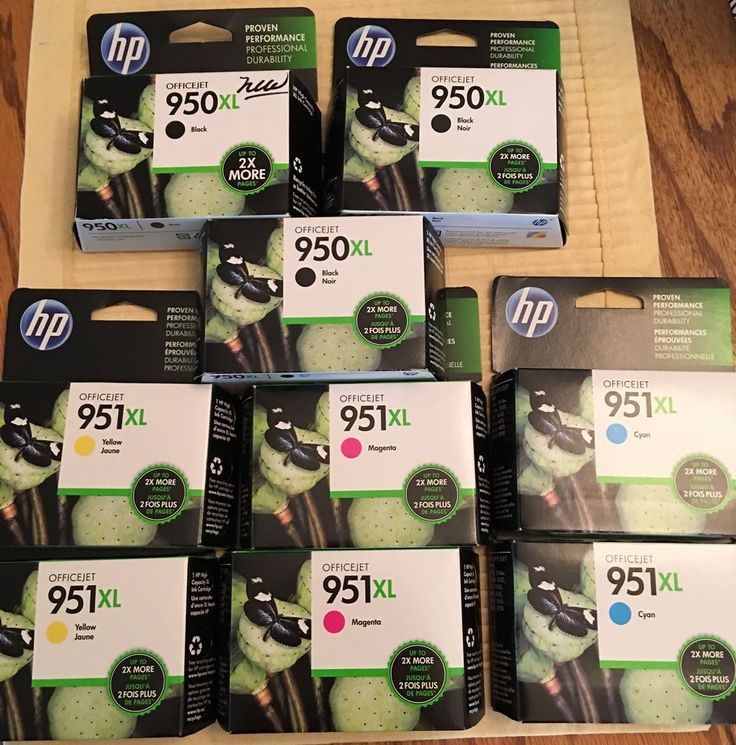 HP Printer Ink HP 951XL HP 950XL Lot 9 Black Magenta Cyan Yellow Genuine SEALED | eBay