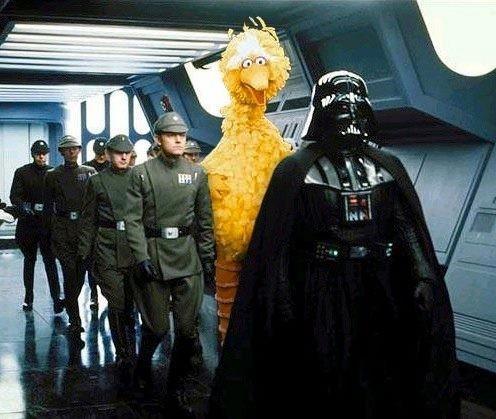 Darth Vader sensed a big yellow disturbance in the Force