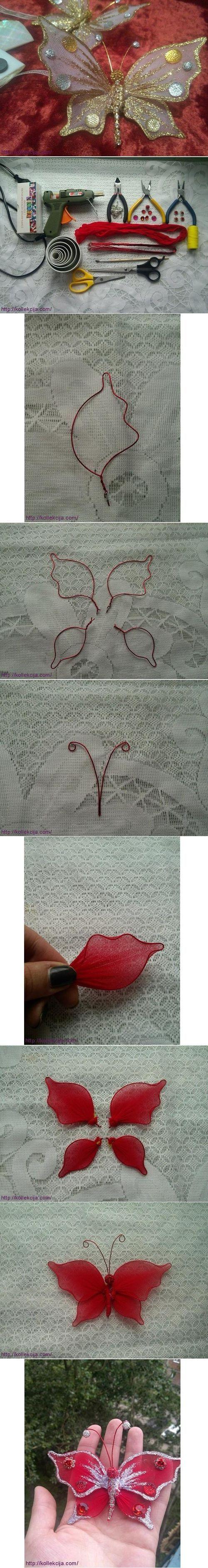 DIY Nylon Butterfly DIY Projects / UsefulDIY.com on imgfave