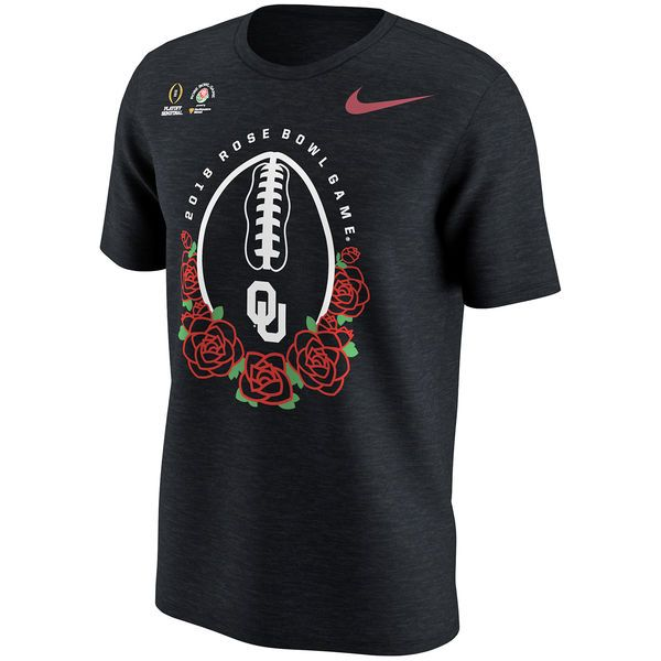 Nike Oklahoma Sooners Youth Black College Football Playoff 2018 Rose Bowl Bound Illustrated T-Shirt